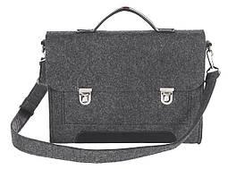 Фетровый чехол-сумка Gmakin для MacBook Air/Pro 13.3 с ручками Черный (GS14), фото 2