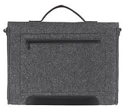 Фетровый чехол-сумка Gmakin для MacBook Air/Pro 13.3 с ручками Черный (GS14), фото 3