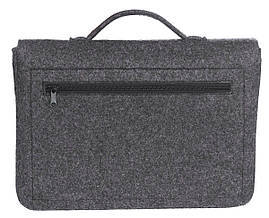 Фетровый чехол-сумка Gmakin для MacBook Air/Pro 13.3 с ручками Черный (GS17), фото 3