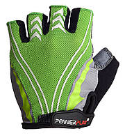 Велоперчатки PowerPlay M Зеленые 5007AMGreen, КОД: 977446