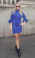 Платье женское с мехом лисы в различных цветах Размеры 42, 44,46,48 NM 041-71