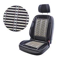 Массажер черная  сетка+ бамбук    47*130см  Elegant MAX 100 657