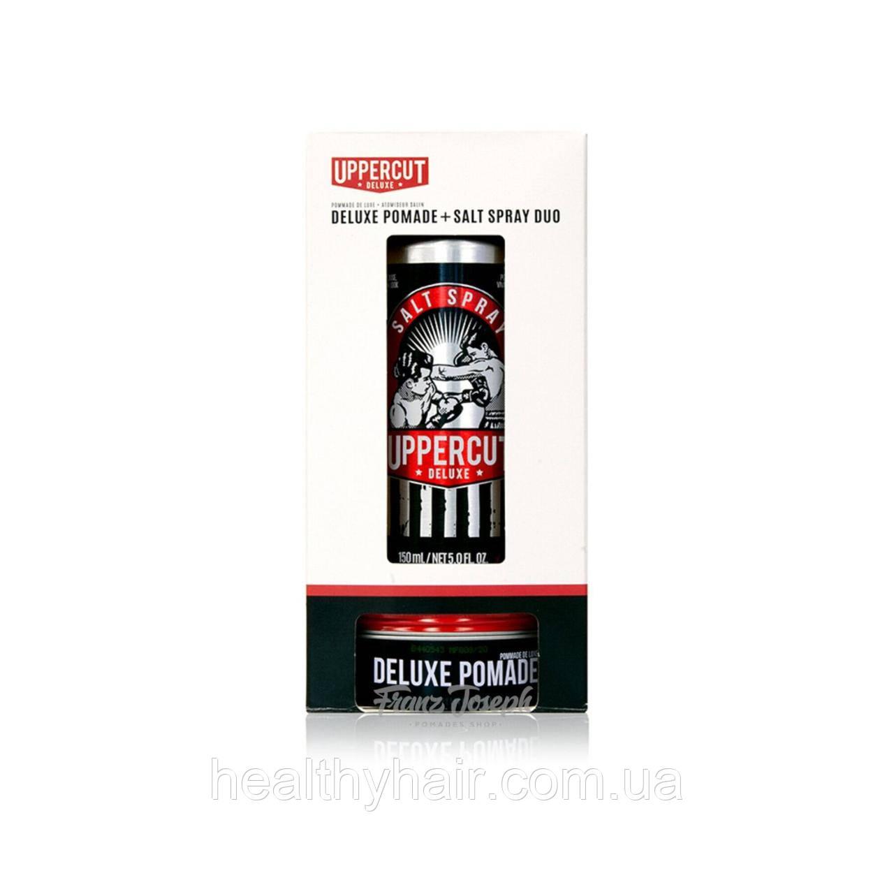Набор Uppercut Deluxe Pomade & Salt Spray Duo