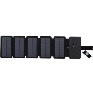 Туристическая солнечная зарядка для телефона Kernuap 10W, 5В/1А Черный (100130)