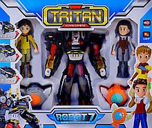 Игрушка робот-трансформер Тритан 7 с героями Q1906, КОД: 1587611