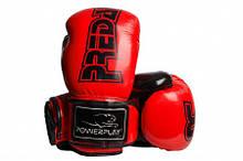 Боксерські рукавиці PowerPlay 3017 карбон 14 унцій Червоні PP301714ozRed, КОД: 1138639