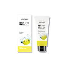 Пилинг-скатка для детоксикации с лимонным соком Lebelage Lemon Detox Peeling Gel 180 мл 880931711, КОД:
