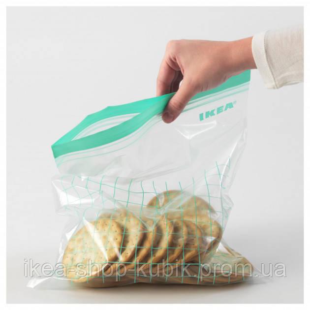 Пакети для заморозки світло-бірюзовий, 30 шт.
