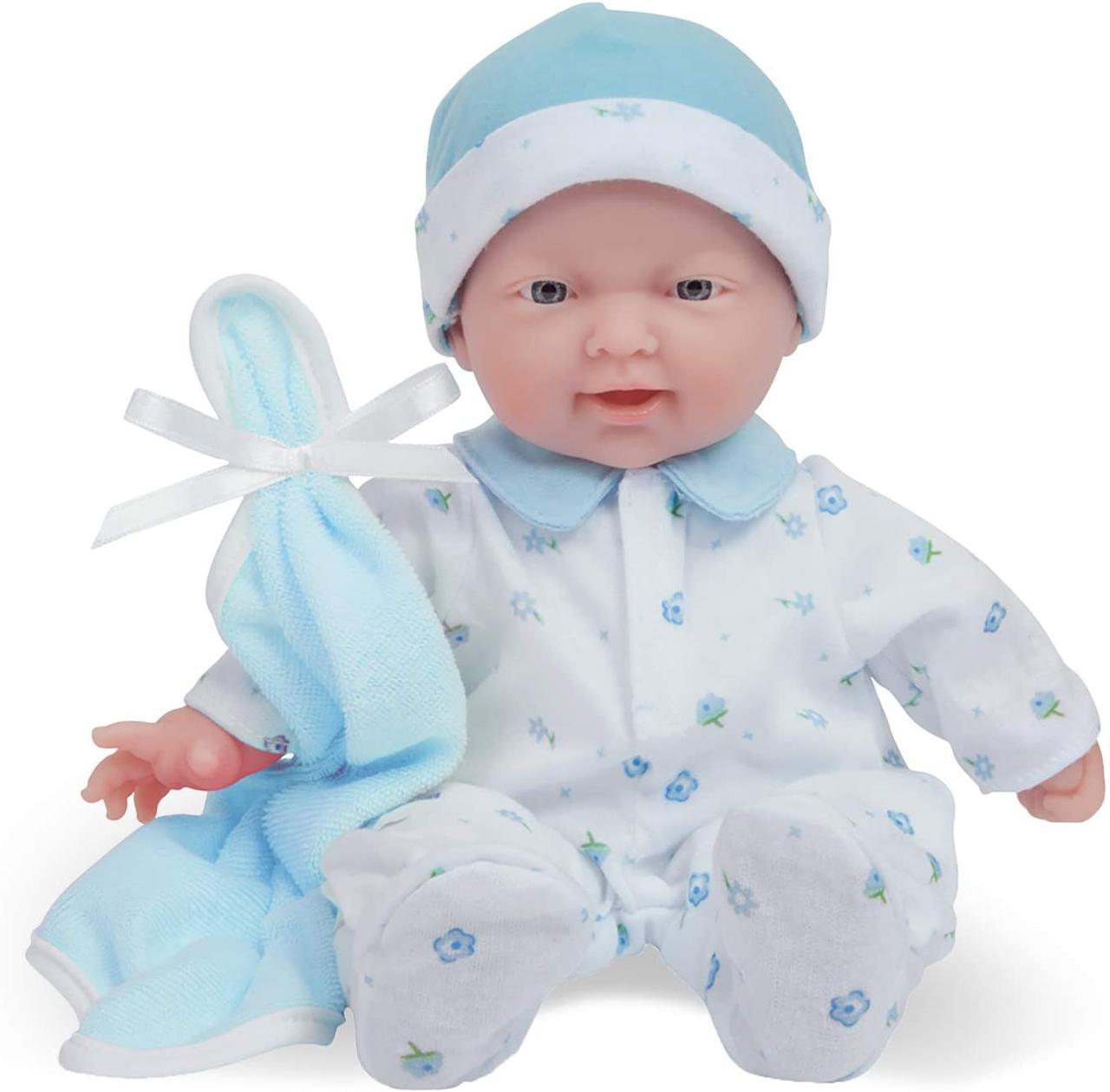 Маленькая кукла пупс 28 см Беренжер Голубая La Baby JC Toys Caucasian 11-inch Small Soft Body Baby Doll