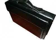 Папка портфель для документов кожаная Дорожка Черная 7112, КОД: 1890053