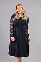 Платье Tasa 1183 50 Темно-синее, КОД: 722703