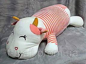 Плед - мягкая игрушка 3 в 1  Коровка розовая (86)