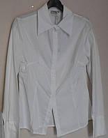Белая дамская рубашка из хлопка Christina, фото 1
