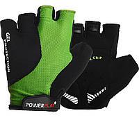 Велоперчатки PowerPlay 5028 A S Черно-зеленые 5028ASGreen, КОД: 1138506