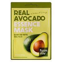 Увлажняющая тканевая маска для лица с авокадо FarmStay Real Avocado Essence Mask 23 мл 8809636280, КОД: