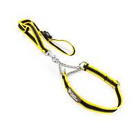 Ошейник удавка для собак TUFF HOUND TC00104 Yellow Black S 32-50 см с поводком 5701-16526, КОД: 2402550