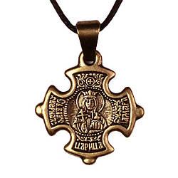 Крест нательный криновидный Тамара Святая благоверная царица Грузии Тамара Металл медненный 3х2х0, КОД: