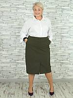 Женская юбка NadiN 1723 7 56 р Хаки, КОД: 2453816