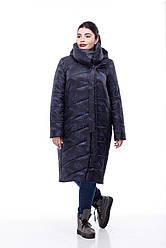 Зимняя женская куртка ORIGA Вероника 46 Черный с принтом, КОД: 1340496