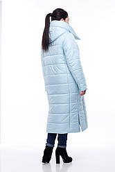 Зимняя женская куртка ORIGA Вероника удлиненная 50 Светло-голубой, КОД: 1341649