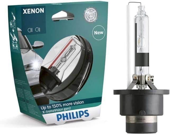 Ксеноновая лампа Philips X-treme Vision D2R 4300K +150% (P23319)