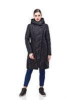 Демисезонная женская куртка ORIGA Камелия 42 Черный камуфляж, КОД: 1340977