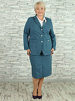 Женский жакет NadiN 1720 6 56 р Светло-синий, КОД: 2453761