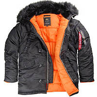 Парка Alpha Industries Slim Fit N-3B 4XL Black Orange Alpha-00002-4XL, КОД: 718005