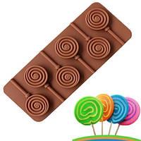 """Силиконовая форма для конфет """"Леденец"""" арт. 870-1531034"""