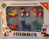 Дитячий набір ігрових фігурок StikBot Стикбот щенячий патруль 1157, фото 1