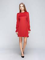 Платье из эко-замши RICH IRYN 42 Красное 3003242, КОД: 2361625