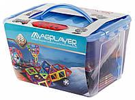Конструктор Magplayer магнитный набор 88 элементов MPT-88, КОД: 2435238