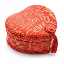 Шкатулка Сердечко с вышивкой 47130, КОД: 1365925