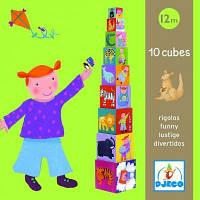 Развивающая игрушка Djeco Забавные кубики (DJ08503)