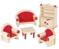 Набор для кукол Goki Мебель для гостиной 51952G, КОД: 2427097