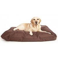 Бескаркасный лежак для собак Beans Bag из ткани Оксфорд стронг 55х35 см с чехлом Коричневый hubFk, КОД: