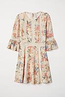 Платье с кружевом HM 65956385 36 Кремовый 2000000897981, КОД: 1828371
