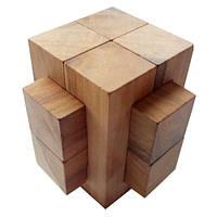 Деревянная головоломка Круть Верть Крест 2+2+4 7х7х7 см nevg-0015, КОД: 119411
