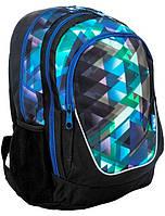Рюкзак PASO с принтом 21 л Черный синий 15-367E, КОД: 298524