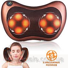 Массажная подушка для шеи спины для поясницы Massage pillow Роликовый массажер с подогревом