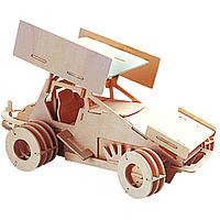 3D-пазл Игрушки из дерева Гоночный автомобиль П141, КОД: 2436551