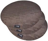 Набор 4 сервировочных коврика Fissman Cyprian-676 Ø36см пвх psgFN-676, КОД: 2371109