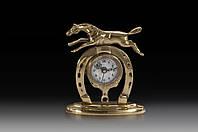 Часы настольные VIRTUS HORSESHOE 16 x 14 см 880 гр Золотистый 130018, КОД: 1180861