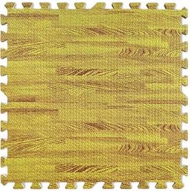 Модульное напольное термо покрытие мягкий пол-паз напольные панели пазлы 6шт. 60х60х10 мм желтое дерево EVA