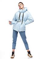 Демисезонная женская куртка ORIGA Аманда 44 Голубой меланж 02MNDD-голубой-мелж44, КОД: 2364763