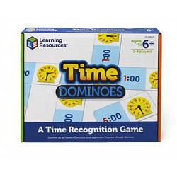 """Настольная игра """"Домино. Изучаем время"""" Learning Resources"""