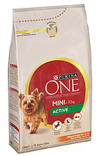 Корм mini One active для маленьких собак PURINA ПУРИНУ з куркою та рисом на вагу 1 кг