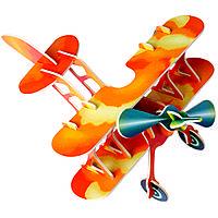3D-пазл Игрушки из дерева Аэроплан П002с, КОД: 2436526