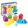"""Игровой набор «Цветные домики» с фигурками """"Семья"""" для сортировки Learning Resources, фото 2"""