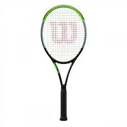 Ракетка для большого тенниса Wilson BLADE 100L V7.0 TNS FRM SS20 Черно-зеленая WR014011, КОД: 1705740